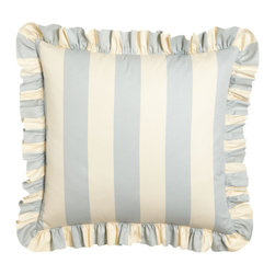 "Pine Cone Hill - Madeline Striped European Sham - BLUE - Pine Cone HillMadeline Striped European ShamDetailsMade of cotton.Three tie back closures.3"" ruffle.Machine wash cold.26"" x 26"".Imported."