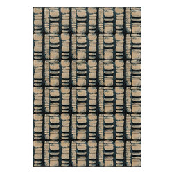 """Loloi Rugs - Loloi Rugs Vista Collection - Blue / Beige, 2'-5"""" x 7'-7"""" - Power loomed in Egypt, the Vista Collection offers striking pattern inspired by ethnic textiles. All nine designs share a color palette of desert hues like rust, taupe, and more on a 100% polypropylene fiber for strong durability. Available in six sizes including a scatter and a runner."""