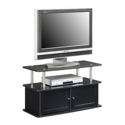 Convenience Concepts - Convenience Concepts TV Stand with 2 Cabinets X-061151 - Modern Styling is the essence of the Designs2Go&trade: TV Stand with 2 Cabinets, style number 151160. Easy and Simple set up.