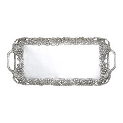 Arthur Court - Grape Serving Tray - Serve up coffee and tea or bite sized appetizers in sophisticated style. Your guests will appreciate the care you put into the meal when they see this elegant tray. It's a must-have for the entertaining season.