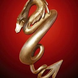 Dragon Door Handle #2 - Nina Winters - Bronze -