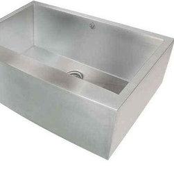 Artisan Manufacturing - Artisan 16-Gauge 35-3/4 x 20 3/4 Apron Sink - CPAZ3621-D10 Artisan Manufacturing Chef-Pro Apron Front Arched Front 16 Gauge Kitchen Sink