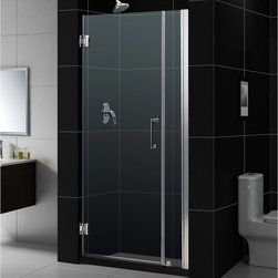 """Dreamline - Unidoor 32 to 33"""" Frameless Hinged Shower Door, Clear 3/8"""" Glass Door - The Unidoor from DreamLine, the only door you need to complete any shower project. The Unidoor swing shower door combines premium 3/8 in. thick tempered glass with a sleek frameless design for the look of a custom glass door at an amazing value. The frameless shower door is easy to install and extremely versatile, available in an incredible range of sizes to accommodate shower openings from 23 in. to 61 in.; Models that fit shower openings wider than 31 in. have an adjustable wall profile which allows for width or out-of-plumb adjustments up to 1 in.; Choose from the many shower door options the Unidoor collection has to offer for your bathroom renovation."""