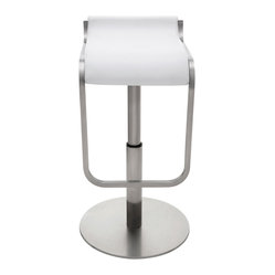 Adora Adjustable Stool, White, Set of 2