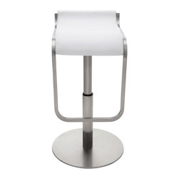 Nuevo Living - Adora Adjustable Stool, White, Set of 2 - Bar stools are perfect for entertaining in the home. Let your guests enjoy a cocktail in comfort while you whip up dinner. A pair of S-curved seats like these allow them to adjust the height from 21 1/2 to 31 1/2 inches, but you'll have to pick your favorite color of Naugahyde seats.