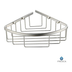 Fresca - Fresca Single Corner Bathroom Wire Basket - All our bathroom accessories are imported and are selected for their modern, cutting edge designs. All accessories are made with brass with a quadruple chrome finish. All our accessories have been chosen to complement our other line of products including our vanities, steam showers, whirlpools, and toilets.