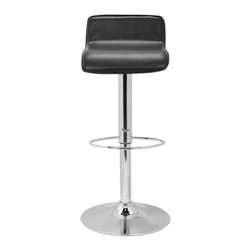 Safavieh - Safavieh Aubrey Gas Lift Stool Raises to 34.5 X-B7002XOF - The Aubrey Gas Lift Barstool is the perfect seating for transitional and contemporary settings.