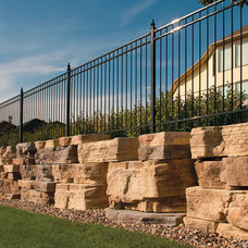 Rustic Retainer Walls by Blocks and Rocks Landscaping Centre