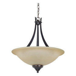 Sea Gull Lighting - Sea Gull Lighting 65175 Brockton Three Light Pendant - This pendant from the Brockton Collection has an aviation inspired design that melds traditional and contemporary elements for a final style that will enhance any room's decor.Features: