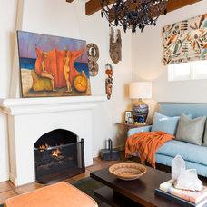 Mediterranean Living Room by Bliss Design