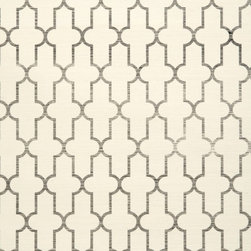 Moroccan Grass Cloth Wallpaper, Black - Wallpaper made from natural patterns, like this Moroccan print made from grass cloth, will add dimension and a unique aesthetic to your space. I love this pattern and think it would work well with a multitude of design themes.
