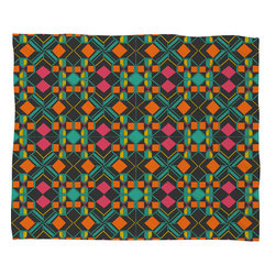 DENY Designs - Gneural Neu Tribal 1002 Fleece Throw Blanket - This DENY fleece throw blanket may be the softest blanket ever! And we're not being overly dramatic here. In addition to being incredibly snuggly with it's plush fleece material, it's maching washable with no image fading. Plus, it comes in three different sizes: 80x60 (big enough for two), 60x50 (the fan favorite) and the 40x30. With all of these great features, we've found the perfect fleece blanket and an original gift! Full color front with white back. Custom printed in the USA for every order.
