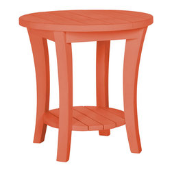 Magnolia Accent Table, Coral - Looking to add color to your home? Our Magnolia tables will transform and refresh any room. This colored accent table will bring color and a fresh vibe into your décor.  Bottom shelf offers additional storage!