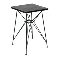 Vintage Iron Apollo Side Table - Dimensions 18.0ʺW × 18.0ʺD × 27.5ʺH