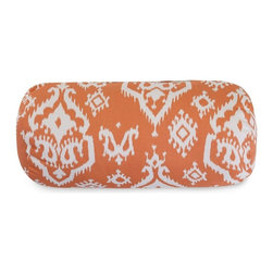 Majestic Home Goods - Peach Raja Round Bolster Pillow - Add a splash of color and a little texture to any room with these plush pillows by Majestic Home Goods. The Majestic Home Goods yellow Alli round bolster pillow will instantly lend a comfortable look to your living room, family room or bedroom. Whether you are using them as decor throw pillows or simply for support, Majestic Home Goods round bolster pillows are the perfect addition to your home. These throw pillows are woven from Cotton Twill, and filled with super loft recycled polyester fiber fill for a comfortable but durable look. Spot clean only.