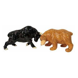 WL - 2.25 Inch Bull and Bear Stock Figurines Salt and Pepper Shakers - This gorgeous 2.25 Inch Bull and Bear Stock Figurines Salt and Pepper Shakers has the finest details and highest quality you will find anywhere! 2.25 Inch Bull and Bear Stock Figurines Salt and Pepper Shakers is truly remarkable.