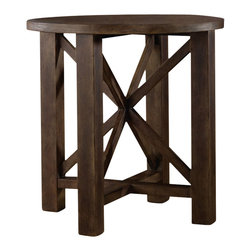 "Hooker Furniture - Hooker Furniture Melange Phoenix Accent Table - A deep, rich finish and rustic charm give flair to the Phoenix Accent Table. Rubberwood Solids and Oak Veneers. Dimensions: 28""W x 28""D x 28.25""H."