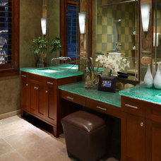 Traditional Vanity Tops And Side Splashes by ATM Mirror and Glass