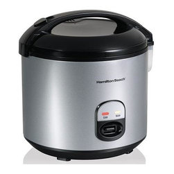 Hamilton Beach - Hamilton Beach - 4 to 20 Cup Rice Cooker & Fo - Rice with the push of a button. Cooks 4 to 20 cups of rice. Sealed lid with dishwasher safe inner liner. Automatic keep warm. Steam tray, rice paddle with holder & measuring cup included. Convenient paddle rest. Dishwasher safe nonstick bowl