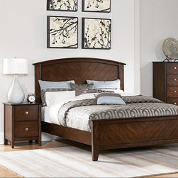 Homelegance - Homelegance Cody 2 Piece Panel Bedroom Set in Warm Cherry - Designed for maximum decorative versatility  the modern transitional Cody Collection is an ideal look for your bedroom. From the delicately curved headboard  to the polished nickel square hardware and warm cherry finish  this collection provides the casually elegant feel for your bedroom sanctuary.