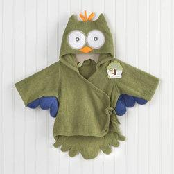 Baby Aspen - My Little Night Owl Terry Robe in Green - My Little Night Owl Terry Robe in Green