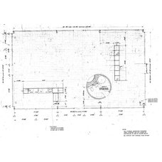 Modern Floor Plan by The Philip Johnson Glass House