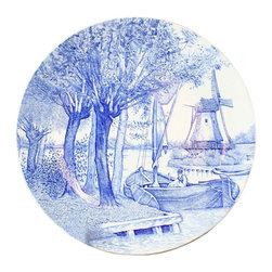 Boch - Consigned Vintage Blue Delft Plate Charger Windmill - Product Details