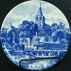 Chemkefa - Small Consigned Vintage Blue Delft Plate Lente Spring - Product Details