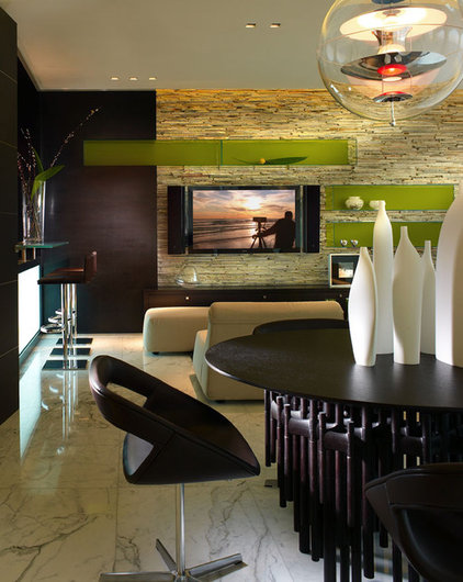 contemporary family room by Pepe Calderin Design- Miami Modern Interior Design