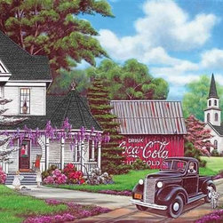 Coca-Cola Country Puzzle - 1000 Piece Jigsaw PuzzleTake a drive in the countryside and take a peak into another time with Coca-Cola� Country. With a crisp, defined palette; lots of soft shading; and fine lines of detail, this puzzle is a delight ��� and a challenge!