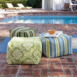 Outdoor Beanbag Ottoman - Hello, fabulous! Bean bags that are meant for the outdoors? Yes please! Not only would they make any kid happy, they would make the adults feel like they are a kid again too.