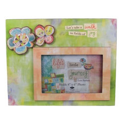 """WL - """"Fields of Joy"""" 4 x 6"""" Picture Frame with Flowers Desktop Decoration - This gorgeous """"Fields of Joy"""" 4 x 6"""" Picture Frame with Flowers Desktop Decoration has the finest details and highest quality you will find anywhere! """"Fields of Joy"""" 4 x 6"""" Picture Frame with Flowers Desktop Decoration is truly remarkable."""