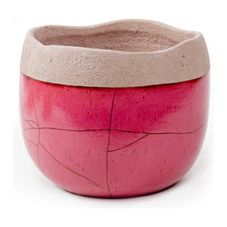 Pink Decorative Pot - Handcrafted clay pottery