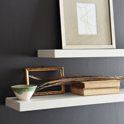 Paxton Wall Shelf - The perfect way to create a personal display of a few of your favorite things--a beloved collection, found objects, vases or framed artwork--these simple shelves make it easy to create adaptable bookcases and display areas.