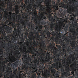 Brown Imperial Polished Granite - This is a really wild looking granite which is quite specific and should be treated carefully.