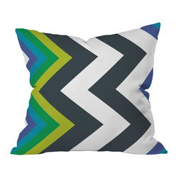 DENY Designs - Karen Harris Modernity Galaxy Cool Chevron Throw Pillow, 26x26x7 - Style, clearly, is the point of this graphic. Throw it anywhere to make a bold statement with a hit of knockout color.