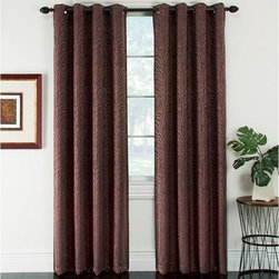Window Accents - Window Accents Serengeti Patterned Jacquard Blackout Grommet Panel Pair - 29-413 - Shop for Curtains and Drapes from Hayneedle.com! Exotic yet sophisticated the Window Accents Serengeti Patterned Jacquard Blackout Grommet Panel Pair are woven with a brown tonal zebra pattern for a look that will drive you wild. Not just stylish these curtains also help reduce energy block light and noise and have a soft natural shape. They're made with a polyester blend of fabrics and a durable blackout back that can lower home heating and cooling costs by up to 25%. Nice! Perfect for your urban space these curtains block 99% of outside light and up to 40% more noise than regular curtains. The grommet design presents a clean modern look that hangs easily with a decorative rod. Machine-washable for convenience.About Arlee Home FashionsArlee Home Fashions Inc. manufactures and markets household textiles like decorative pillows chair pads floor cushions curtains table linens and pet beds. The company was incorporated in 1976 and is based in New York New York.