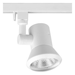Progress Lighting - Progress Lighting Alpha Trak Shallow Profile Line Track Light Fixture X-82-9129P - Shallow profile non-metallic molded fitter with aluminum reflector. Designed for PAR20 lamps. Lampholder rotates 360° horizontally, 90° vertically.
