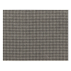 """Close to Custom Linens - 90"""" Tablecloth Round Gingham Check Black - A charming traditional gingham check in black on a cream background. 90"""" round cotton tablecloth."""