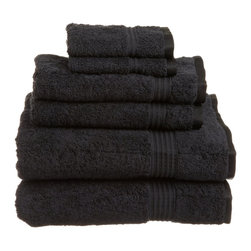 """ExceptionalSheets - 600 GSM Towel Set 100 Percent Egyptian Cotton by ExceptionalSheets - Experience these Superior 100-percent Egyptian cotton absorbent 600 and 900 Grams per Square Meter towels.  They are a beautiful update to ANY bathroom, and will not fade in the washing machine!  Available in multiple colors and sizes, these Egyptian cotton towels can fit any need. Let us help you turn your bathroom into your own personal spa or 5-Star hotel room at a fraction of the cost!  Towel Set Includes: Two Bath Towels - 30""""x55"""" each. Two Hand Towels - 20""""x30"""" each. Two Face Towels - 13""""x13"""" each. Color options: Black, Chocolate, Charcoal, Cream, Forest Green, Latte, Light Blue, Navy Blue, Olive Green, Plum, Purple, Red, Rust, Seafoam, Stone, Teal, Toast, Tea Rose, White Pattern: Solid Terry Cloth 2-PLY Materials: 100% Egyptian Cotton.  Each towel is featured with a hanging hook for easy hanging. Care instructions:  Machine Washable Imported"""