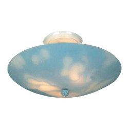 ELK Lighting - Three Light White Bowl Semi-Flush Mount - Three Light White Bowl Semi-Flush Mount