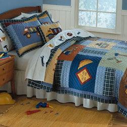 RR - On Sale Construction Quilt Set - Full - Quick Ship Construction Quilt Set Full