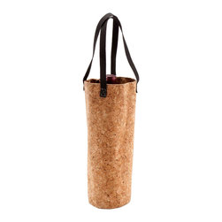 Green Living Cork Tote - Water-resistant, eco-friendly and portable, the Green Living Cork Tote makes transporting your favorite wine variety easy. Made with natural cork and lined with fabric.
