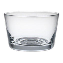 Alessi - Harri Koskinen Set of 4 Liquor Glasses by Alessi - The Alessi Harri Koskinen Set of 4 Liquor Glasses is intended for all sorts of uses: drinking,  toasting, measuring, stacking, storing. Designer Harri Koskinen developed this glass as part of the 123dl set of three glass types (wine, water, liquor). The premise is that these glasses could satisfy numerous needs throughout the day: maybe for holding a snack, or enjoying an espresso or a cappuccino or a cup of tea. Alessi, known as the Italian design factory, has manufactured household products since 1921. The stylish and fun items offered are the result of contemporary partnerships with some of the world's best designers of unique and modern home accessories.