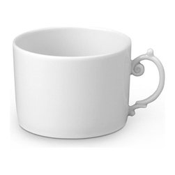 L'Objet - L'Objet Aegean White Tea Cup - Inspired by the Greco-Roman treasures of the ancient world, named for the sea stretching between Greece and Turkey, a classic motif, reimagined for contemporary tables. Limoges Porcelain. Made in Portugal. Dishwasher & Microwave Safe. 8oz. L'Objet is best known for using ancient design techniques to create timeless, yet decidedly modern serveware, dishes, home decor and gifts.