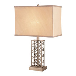 Trans Globe Lighting - Trans Globe Lighting RTL-8194 Open Weave Nickel Transitional Table Lamp - Trans Globe Lighting RTL-8194 Open Weave Nickel Transitional Table Lamp