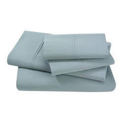 Dwellstudio Pintuck Sheet Set - Simple tailored style, ultra-soft classic sheeting. The 300 thread count cotton percale Pintuck Sheet Set by Dwellstudio includes flat sheet, fitted sheet and two cases.