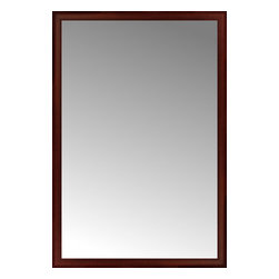 """Posters 2 Prints, LLC - 45"""" x 66"""" Ansley Mahogany Custom Framed Mirror - 45"""" x 66"""" Custom Framed Mirror made by Posters 2 Prints. Standard glass with unrivaled selection of crafted mirror frames.  Protected with category II safety backing to keep glass fragments together should the mirror be accidentally broken.  Safe arrival guaranteed.  Made in the United States of America"""