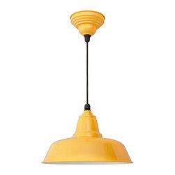 "Cocoweb - 14"" Goodyear Ceiling Barn Light, Yellow, 14 - BODY SHAPE"