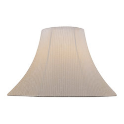 "Lite Source - Lite Source CH1176-18 Accessories Shades in Light Beige - Light Beige Bell Shade - 7""Tx18""Bx12.50""Sl"